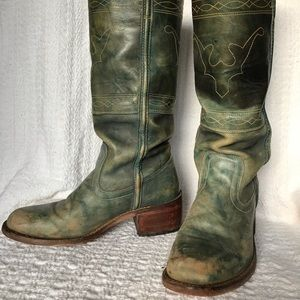 Vintage Frye cowgirl jean colored boots sz 8.5